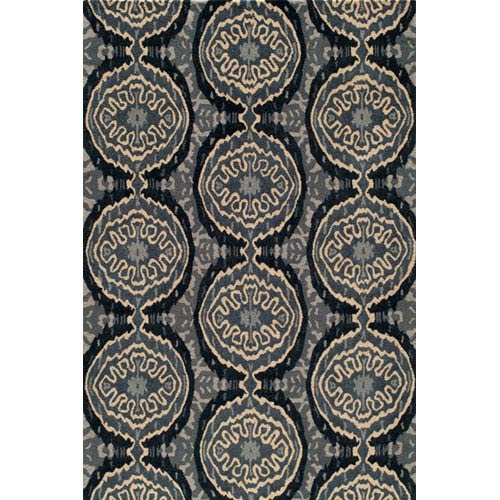 Momeni Habitat 14 Denim Rectangular: 5 ft. x 8 ft. Rug
