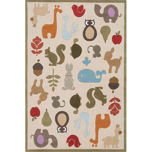 Lil Mo Whimsy Ivory Rectangular: 5 ft. x 7 ft. Rug