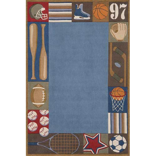 Lil Mo Whimsy Denim Rectangular: 5 ft. x 7 ft. Rug