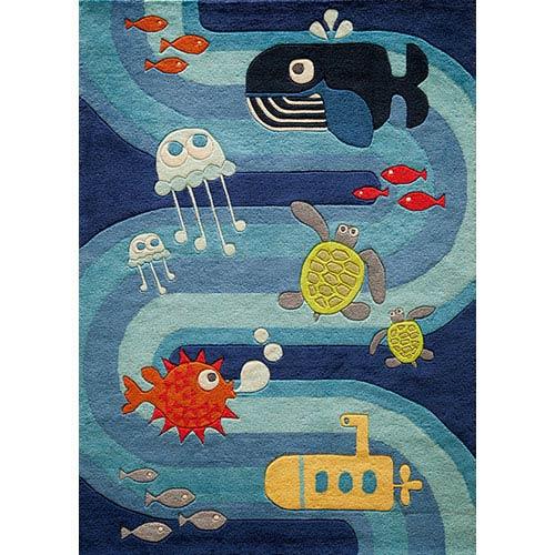 Momeni Lil Mo Whimsy Blue Rectangular: 5 Ft. x 7 Ft. Rug Rug
