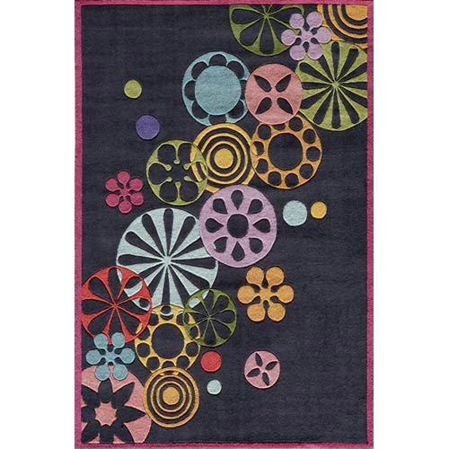 Momeni Lil Mo Hipster Black Rectangular: 5 ft. x 7 ft. Rug