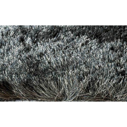 Luster Shag Carbon Rectangular: 2 ft. x 3 ft. Rug