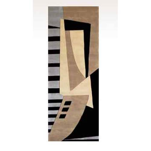 New Wave 22 Black Runner: 2 ft. 6 in. x 8 ft. Rug
