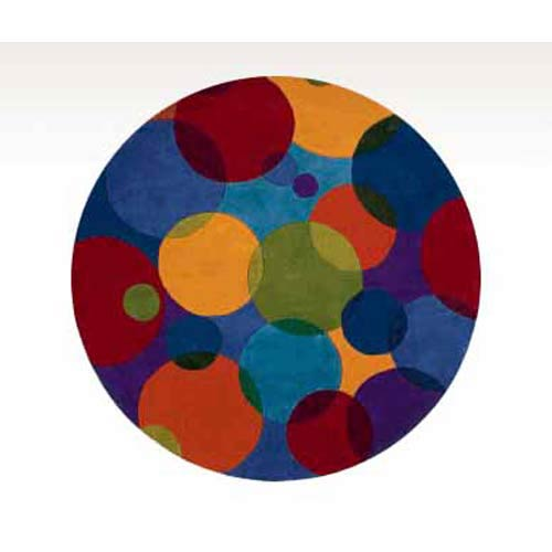 Momeni New Wave 37 Multi Round: 7 ft. 9 in. x 7 ft. 9 in. Rug