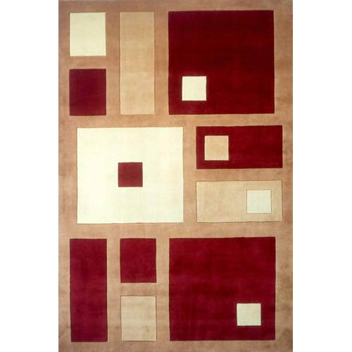 New Wave 50 Red Rectangular: 5 ft. 3 in. x 8 ft. Rug