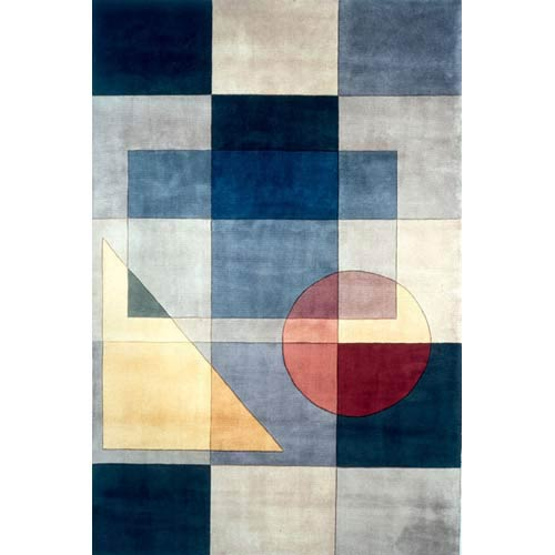 New Wave 54 Blue Rectangular: 5 ft. 3 in. x 8 ft. Rug
