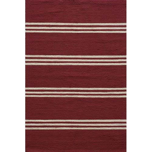 Veranda Red Rectangular: 5 ft. x 8 ft. Rug