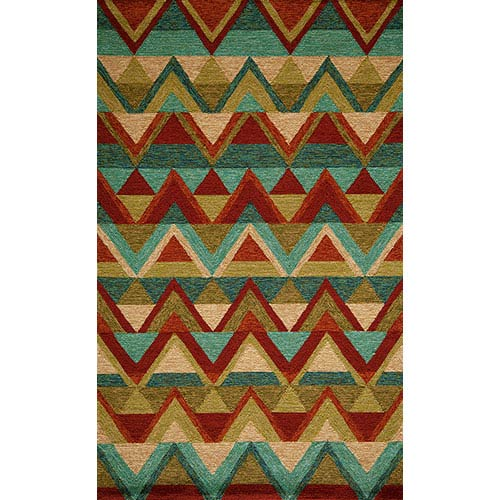 Momeni Veranda Multi-Colored Rectangular: 5 Ft. x 8 Ft. Rug Rug