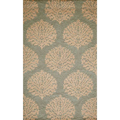 Momeni Veranda Blue Rectangular: 5 Ft. x 8 Ft. Rug Rug