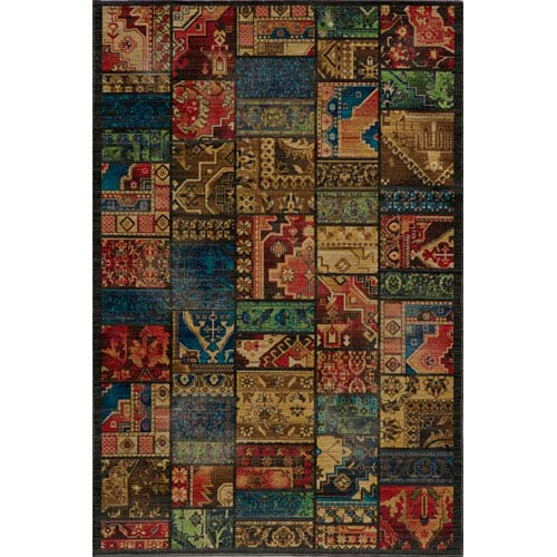 Momeni Vintage 12 Multi-Color Rectangular: 5 ft. 3 in. x 7 ft. 9 in. Rug