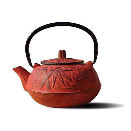 Red Cast Iron Osaka Teapot