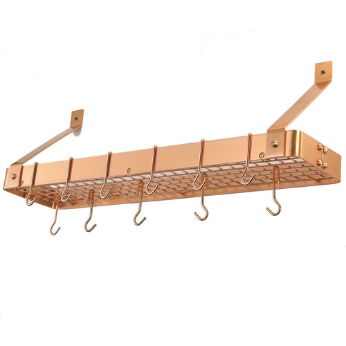 Copper Wall Mounted Pot Rack