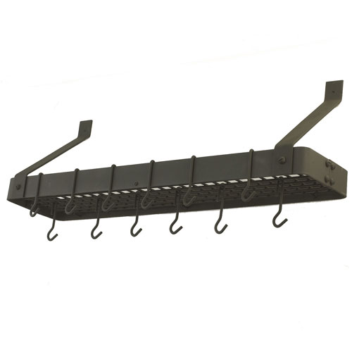 Graphite Wall Mounted Pot Rack