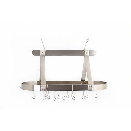 Satin Nickel Oval Hanging Pot Rack