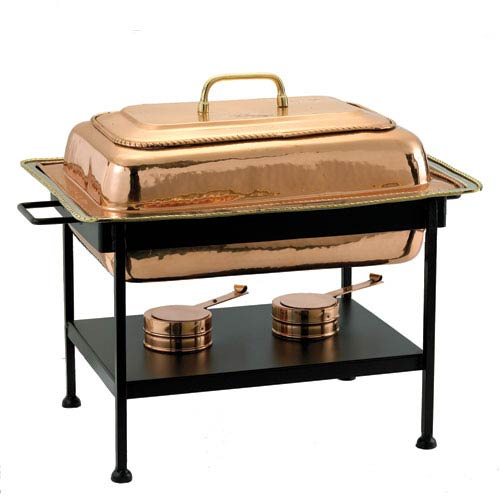 Copper Rectangular Chafing Dish