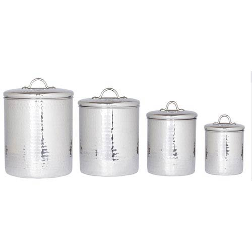 Stainless Steel Canister Set with Fresh Seal® Lids, Set of Four