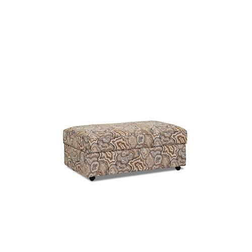 Klaussner Furniture Stella Storage Ottoman, Amber
