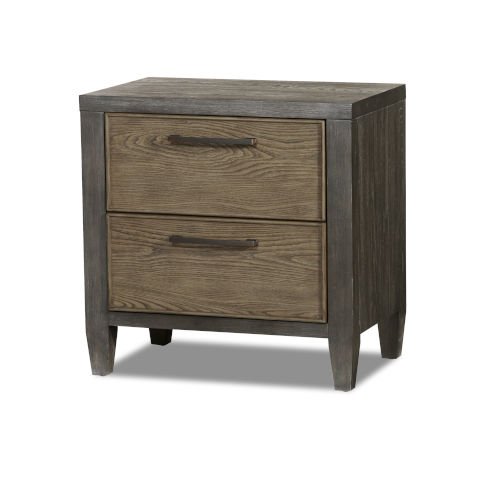 Jaxson Charcoal Poplar Oak and Metal Nightstand