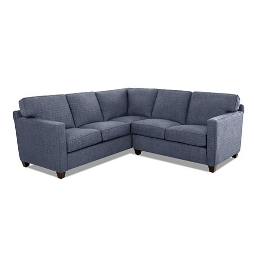 Avenue 405 Carter Denim Down Blend 96-Inch L Shape Sofa