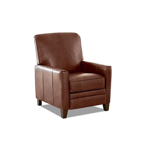 Kenmore Chestnut Push Back High Leg Reclining Chair