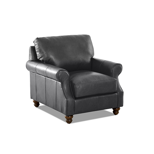 Winston Leather Down Blend Chair