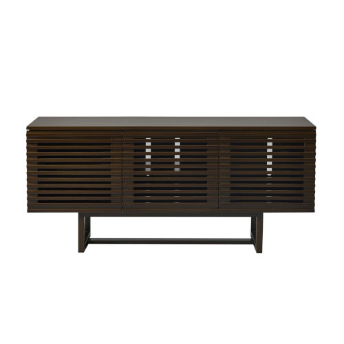 Andrew Walnut and Dark brown TV Stand Cabinet