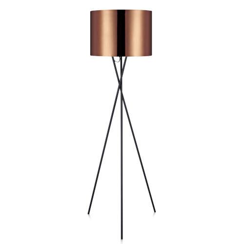 Cara Copper and Black Tripod Floor Lamp