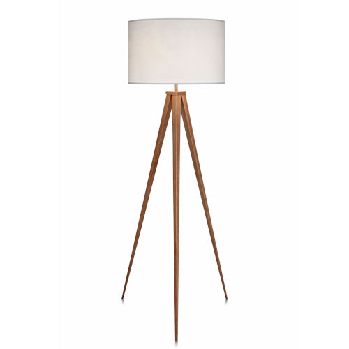 Romanza White and Tan Tripod Floor Lamp