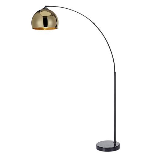 Arquer Gold and Black Arc Floor Lamp
