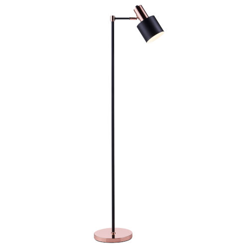 Monopiede Black and Rose Gold Floor Lamp