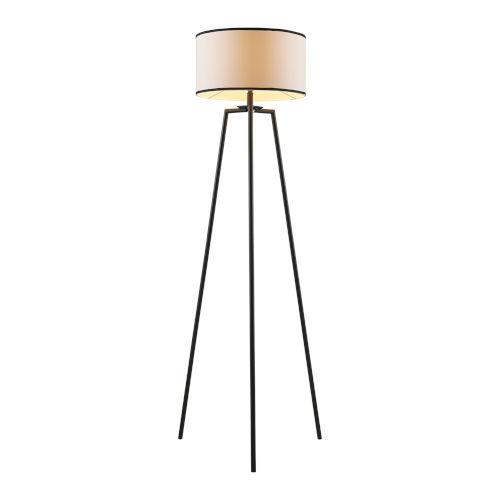 Baker White and Black Floor Lamp