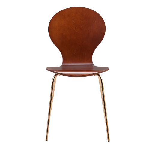 Contorno Bentwood Walnut and Rose Gold Chair, Set of 2