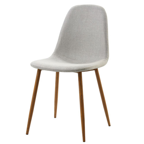 Minimalista Light Gray and Wood Grain Chair, Set of 2