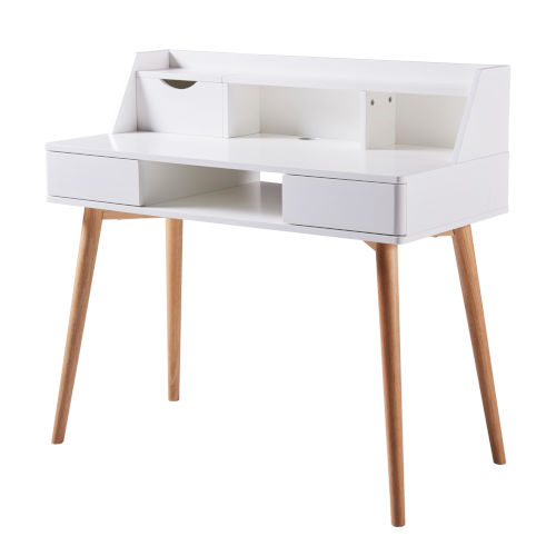 Creativo White and Natural Desk