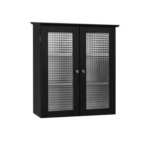 Elegant Home Fashions Chesterfield Espresso Wall Cabinet