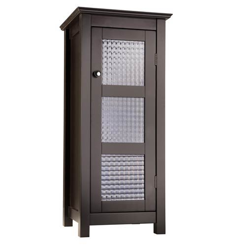 Elegant Home Fashions Chesterfield Espresso Floor Cabinet