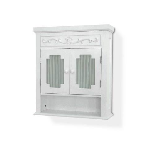 Elegant Home Fashions Lisbon White Wall Cabinet