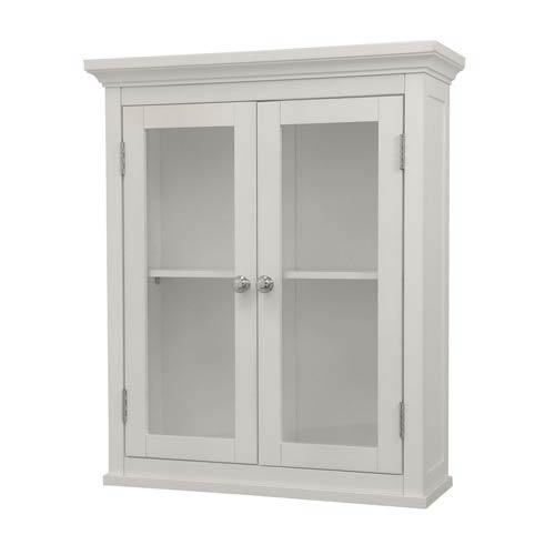 Madison White Wall Cabinet with Two Doors