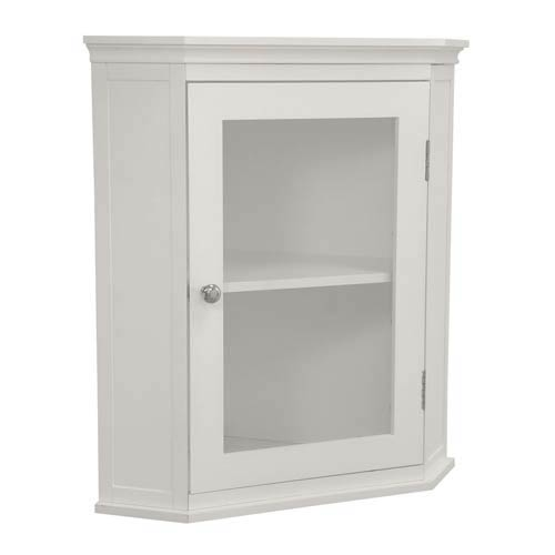 Madison White Corner Wall Cabinet