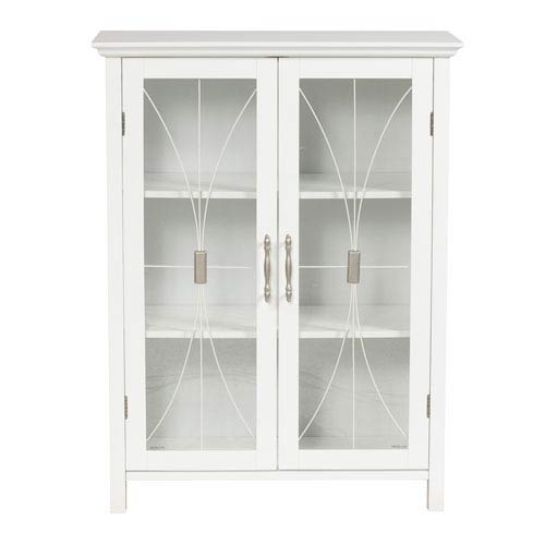 Glass Door Shelf Storage Cabinet Bellacor