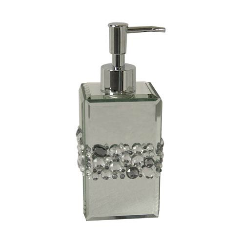 Bling Silver Mirror Beads Lotion Dispenser