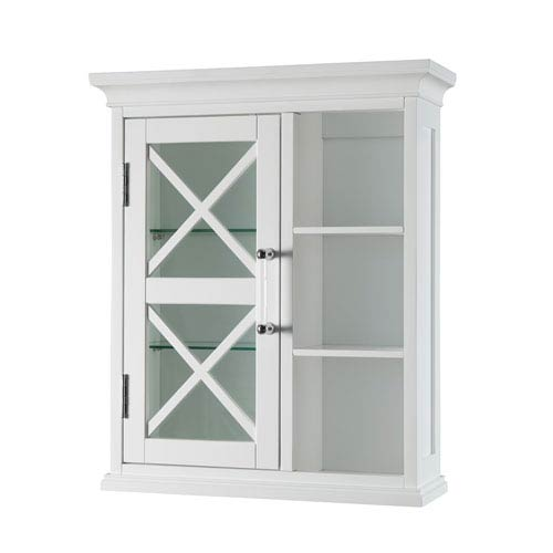Riley Wall Cabinet with One Door and Cubbies