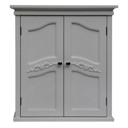 Versailles White Wall Cabinet with Two-Doors