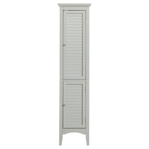 Glancy 63-Inch Gray Linen Tower