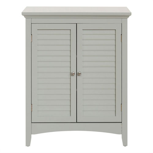 Glancy 32-Inch Gray Double Door Floor Cabinet