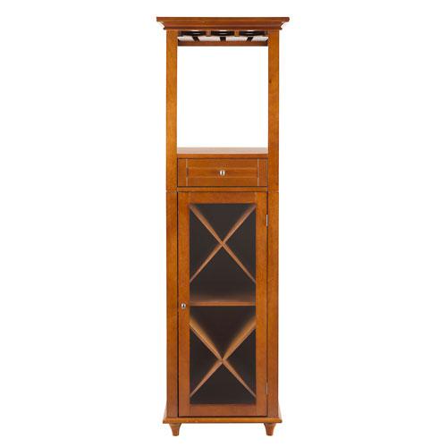 Napoli I Medium Oak Wine Cabinet