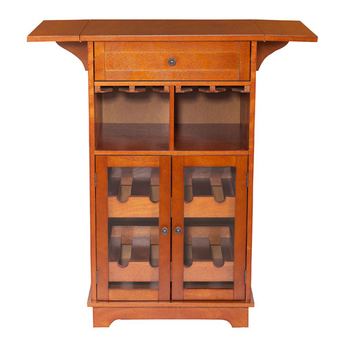 Elegant Home Fashions Peoria Mahogany Multi Wine Cabinet