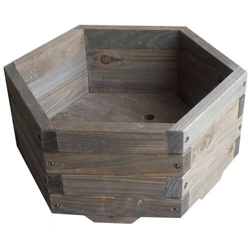 16 Inch Hexagonal Barrel Planter