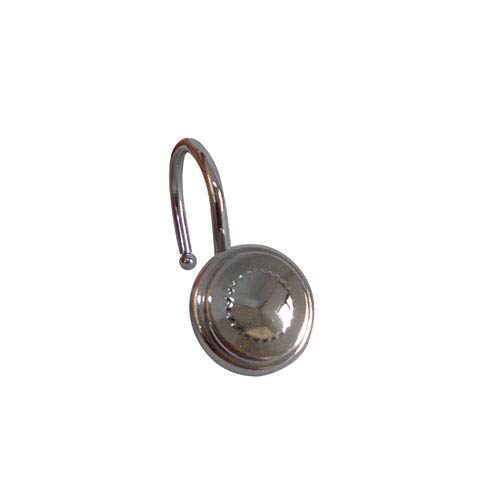 Elegant Home Fashions Shower Hooks Chrome Round Bottle Cap Design