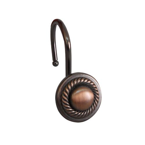 Elegant Home Fashions Shower Hooks Oil Rubbed Bronze Round Rope